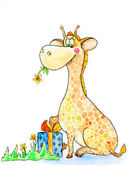 Cute Giraffe — Stock Photo