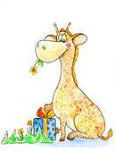 Cute Giraffe — Stock Photo