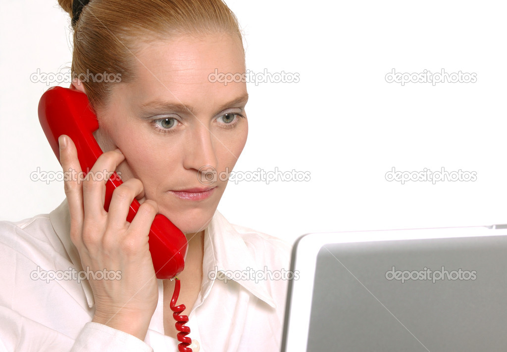 Office worker on phone — Stock Photo #4950392