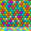 Many colored balls abstract background — Stock Photo