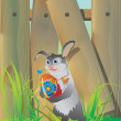 Easter rabbit — Stockvector #5150838