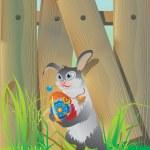 pâques lapin — Vecteur
