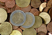 Euros coins — Stock Photo