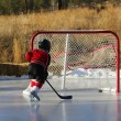 Pond Hockey — Stockfoto