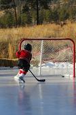 Pond Hockey — Stock Photo