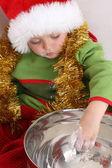 Weihnachtskekse Backen — Stockfoto