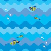 Seamless sea texture — Stock Vector