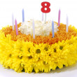 Flowers birthday cake — Stock Photo