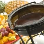 chocolade fondue — Stockfoto