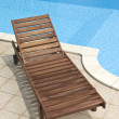 Wooden deckchair — Stock Photo #4983388