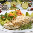 Grilled pikeperch - Stock Photo