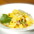 Taglia carbonara - Stock Photo