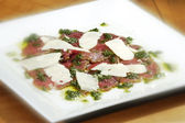 Carpacio with parmesan — ストック写真