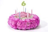 Flowers birthday cake — Stock Photo