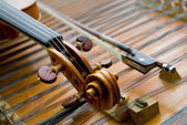 The neck of a violin — Stock Photo