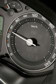 Tachometr showing lawful speed — Stock Photo