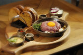 Steak tartar — Stock Photo
