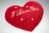 The red Valentine`s pillow — Foto Stock