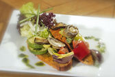 Crostini vegetariana — Stock Photo