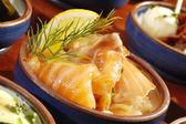Salmone affumicato — Foto Stock