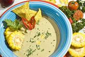 Cream corn soup — Stok fotoğraf