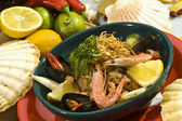 Seafood salad Mexican style — Stok fotoğraf