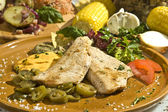 Grilled pork tenderloin mexican style — Stok fotoğraf