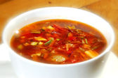 The minestrone soup — Stock Photo