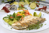 Grilled pikeperch — Stock Photo