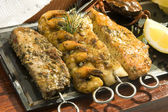 Grilled fish meat — Stock Photo