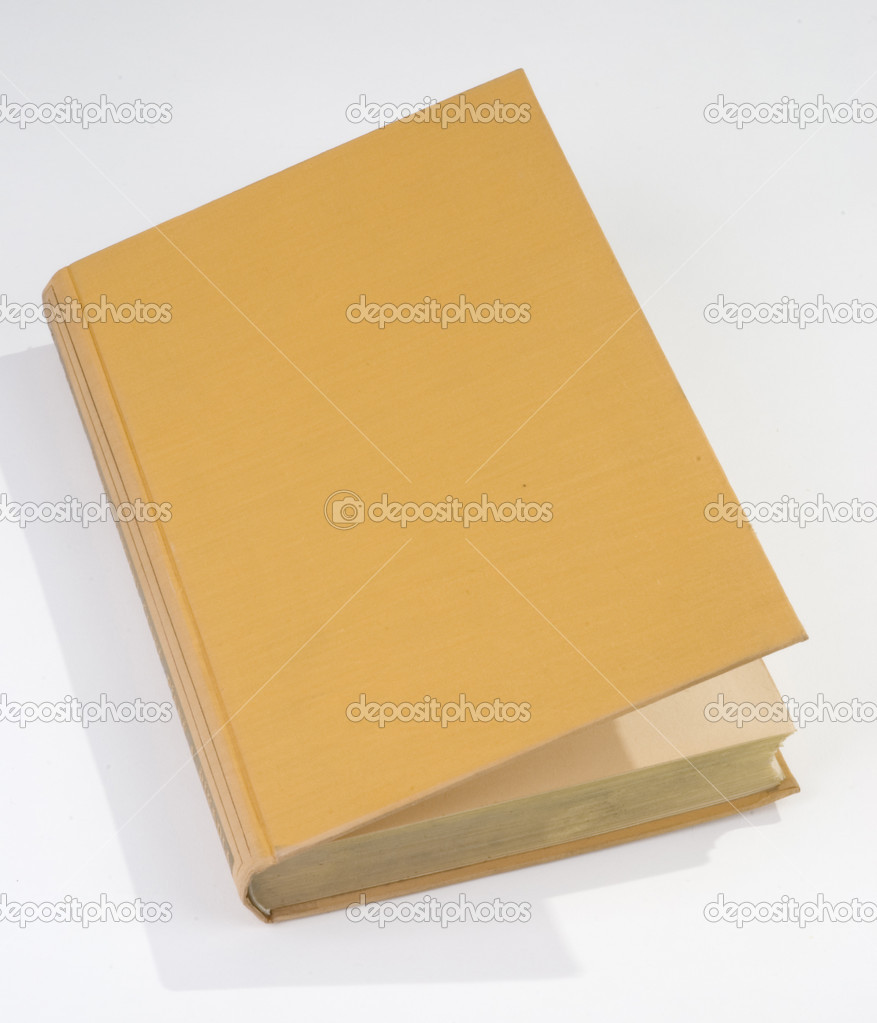 Old Book Cover Blank : Blank old book cover yellow — stock photo kropic