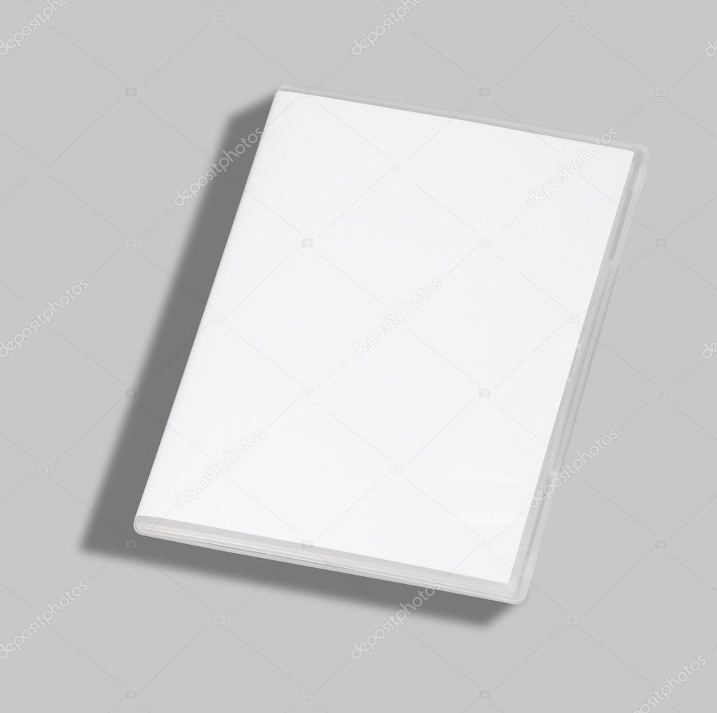 DVD or CD case isolated on white with a clipping path  Stock Photo #4983066
