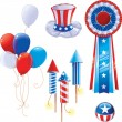 Vector de stock : Fourth of July symbols