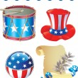 Independence Day symbols — Stockvectorbeeld