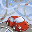 Stock Vector: Cars on roads