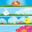 Stock Vector: Easter multicolor banners