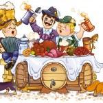 Oktoberfest festival — Stock Vector