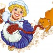 Stock Vector: Oktoberfest lady