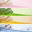 Seasonal banner — Vector de stock #4989864