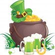 Saint Patrick's Day symbols - Stock Vector