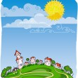 Sunny day poster — Stock Vector