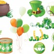 St.Patrick's Day symbols — Stock Vector