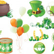 Stock Vector: St.Patrick's Day symbols