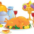 Thanksgiving dinner - Stock Vector