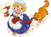 Oktoberfest lady — Stok Vektör