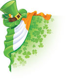 Saint Patrick's Day corner — Vector de stock