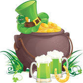 Saint Patrick's Day symbols — Vector de stock