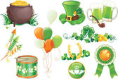 St. Patricks Day symboler — Stockvektor
