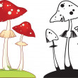 Stock Vector: Fly agaric