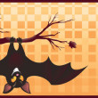 Royalty-Free Stock Imagen vectorial: Halloween banner with owl and bat